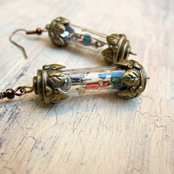 Make Time in A bottle Earrings