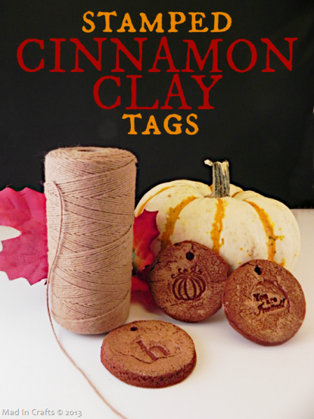 Stamped Cinnamon Clay Tags