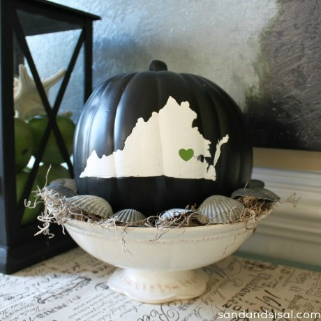 state pride silhouette pumpkin - virginia