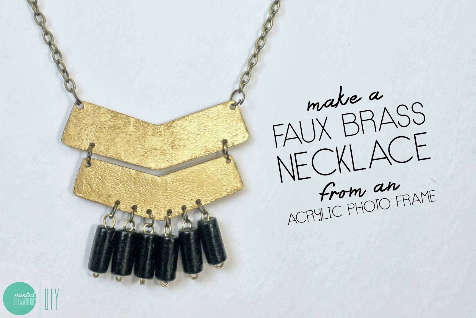 Make an Aztec-Inspired Faux Brass Necklace