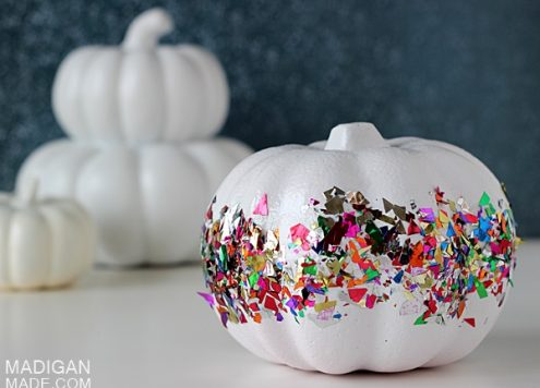 Make a Confetti Pumpkin