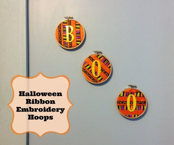 Halloween Ribbon Embroidery Hoops