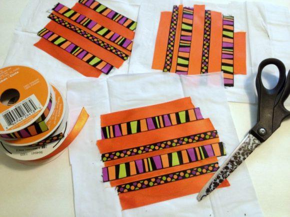 Halloween ribbon craft