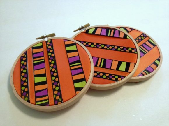 ribbon embroidery hoops