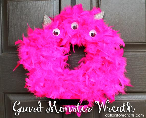 monster wreath tutorial