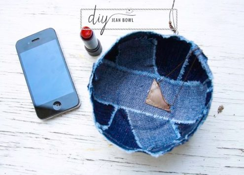Make a Patchwork Denim Bowl