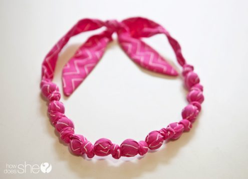 Make a Marble and Fabric Necklace