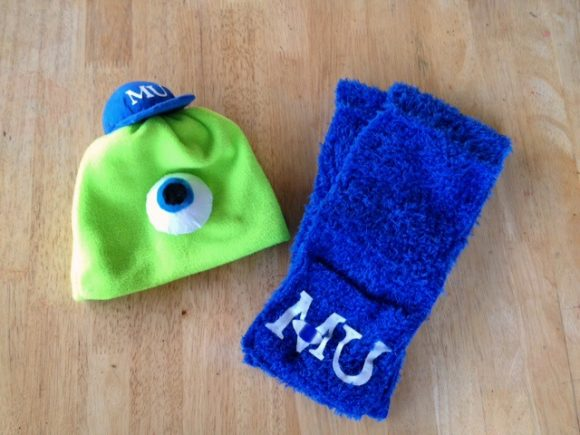 Monsters University Hat & Scarf Project - instructions at Dollar Store Crafts