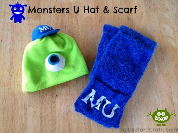 Monsters U Hat & Scarf - easy sewing project