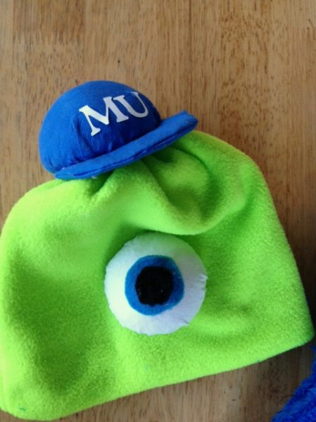 Monsters University Hat - click for instructions on how to make this simple sewing project