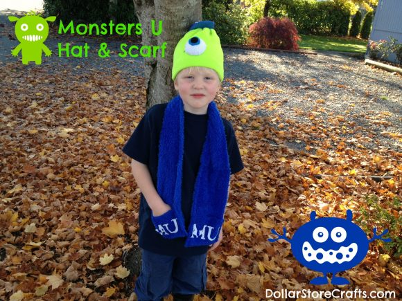 Monsters U Hat and Scarf project: click for instructions