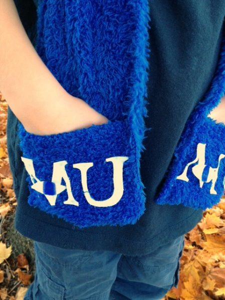 Monsters University Pocket Scarf - click for instructions on how to sew it