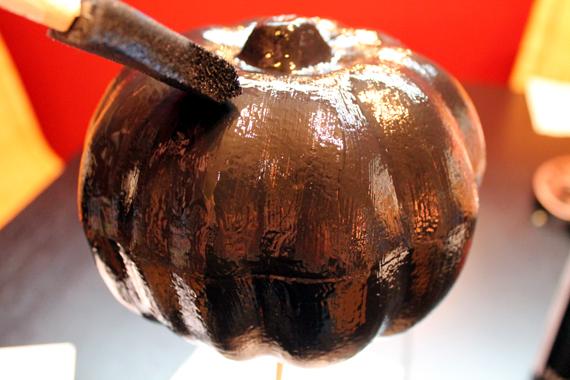 black painted foam pumpkin