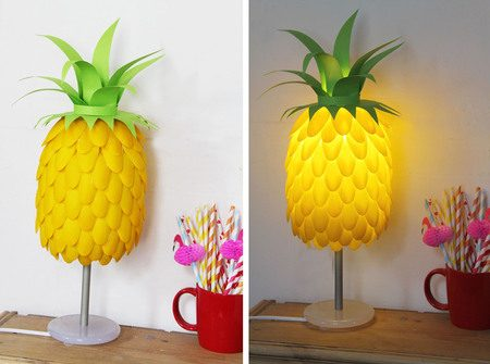 Make a pineapple lamp