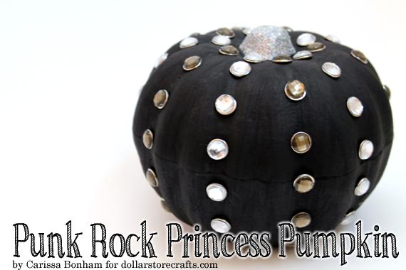 shiny glitter punk rhinestone pumpkin