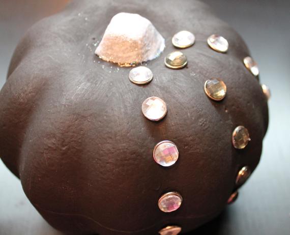 black bejeweled  pumpkin