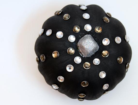 black jeweled punk rock pumpkin