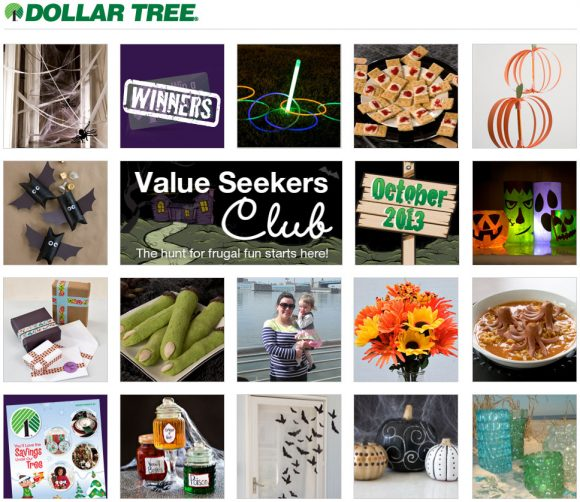 Dollar Tree Value Seeker's Club - has free craft ideas, recipes and more every month. Sign up at: http://bit.ly/ValueSeekers