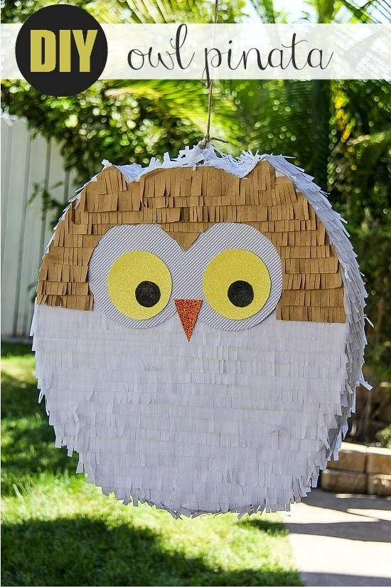 make an owl piñata