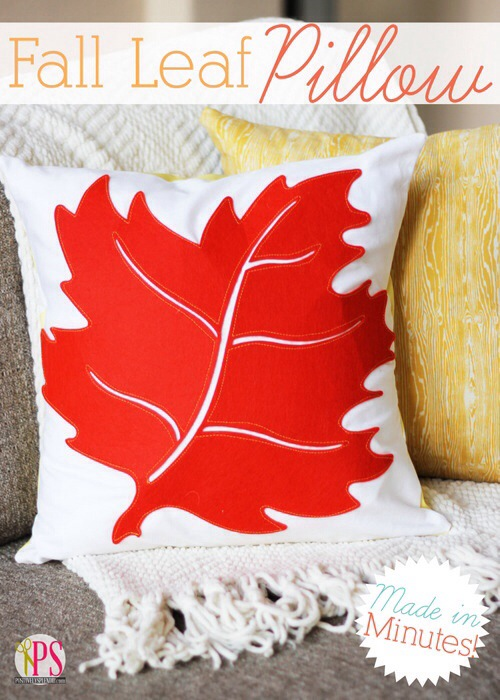 Make A Fall Leaf Throw Pillow 187 Dollar Store Crafts