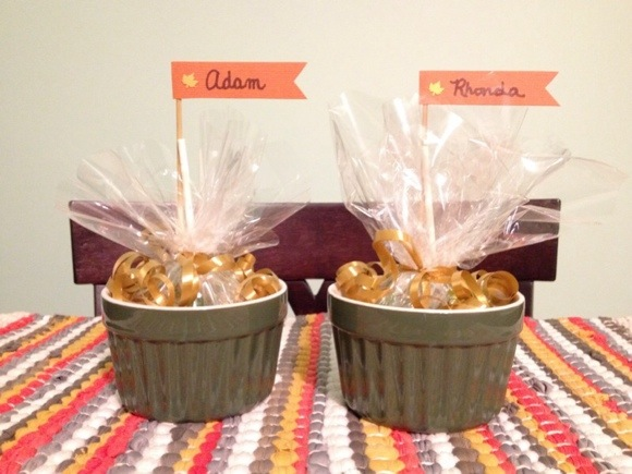 personal candy dish place card table favors