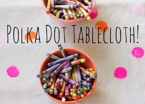 Make a Polka Dot Tablecloth