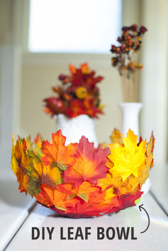 Make a Faux Leaf Bowl