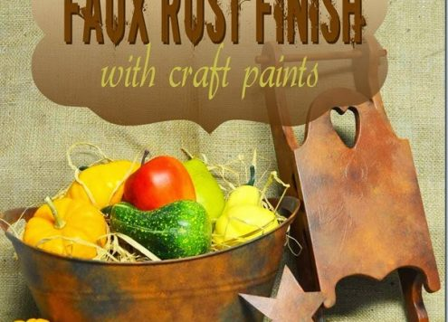 Paint a Faux Rust Finish