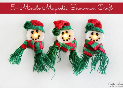 Light-Up Snowman Magnets
