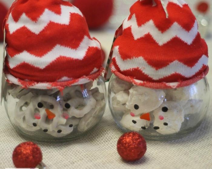 Make Snowman Treat Jars