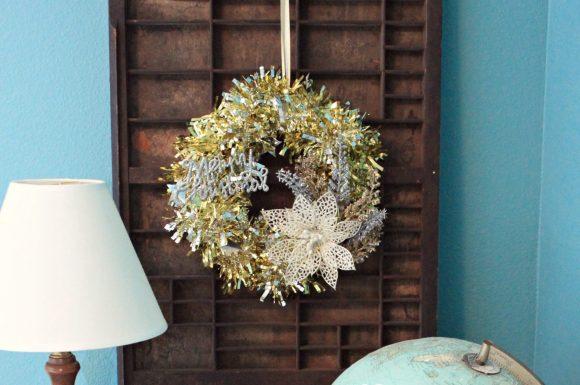Make a Tinsel Wreath