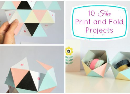 10 Free Print and Fold Projects