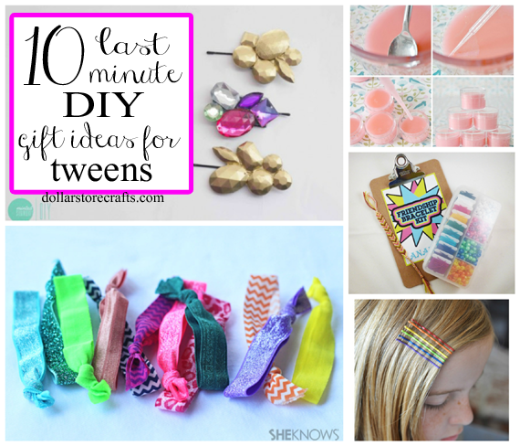 10 Last Minute DIY Gift Ideas for Tween Girls  Dollar Store Crafts