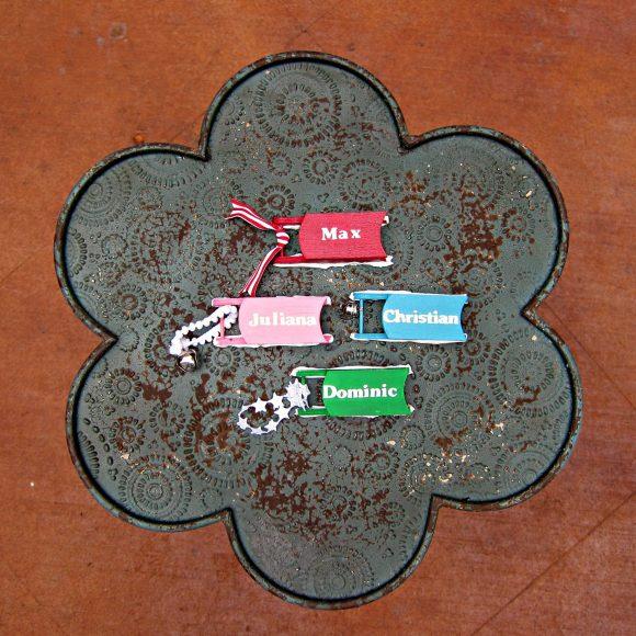 DIY Sled Ornaments