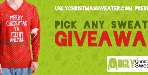 Ugly Christmas Sweater giveaway!