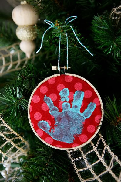 Make a Baby Handprint Ornament