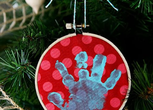 Make a Baby Handprint Ornament