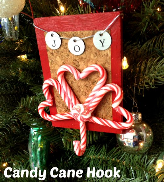 Candy cane hook -- cool idea by Dollarstorecrafts.com