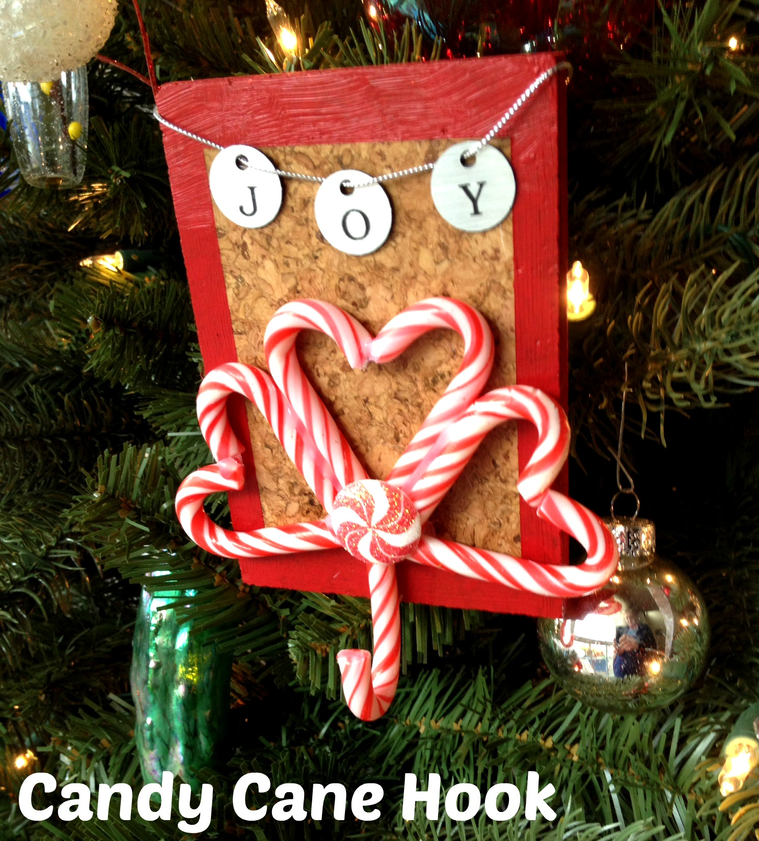 Tutorial Candy Cane Hook With Frogtape Dollar Store Crafts