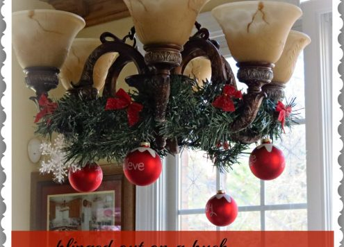 quick chandelier decorating for christmas - Christmas Chandelier Decorations