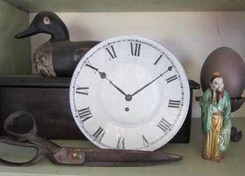 Decoupaged Clock Plate