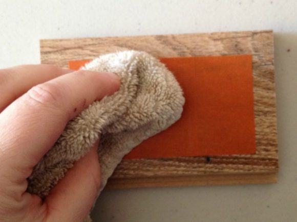 Rub a damp cloth on FrogTape® to activate its stickiness