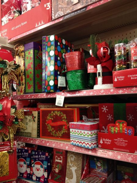 Christmas gift boxes at Dollar General