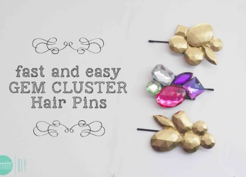 Make Gem Cluster Hair Pins
