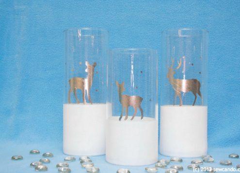 Make Gilded Reindeer Vases