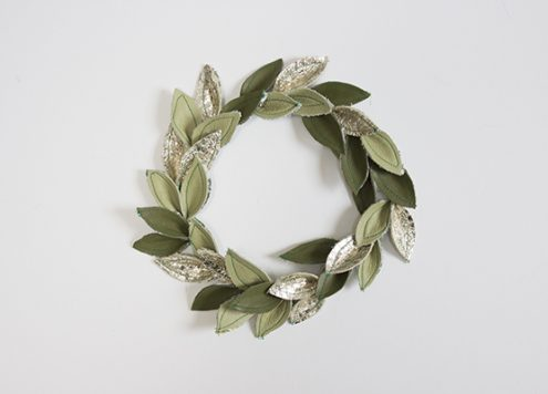 Make a Leather Leaf Wreath