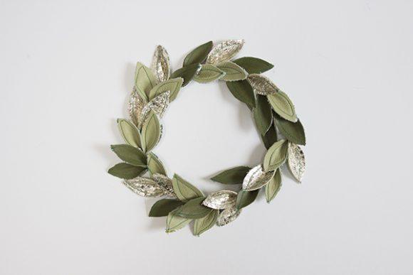 Make a Leather Leaf Wreath