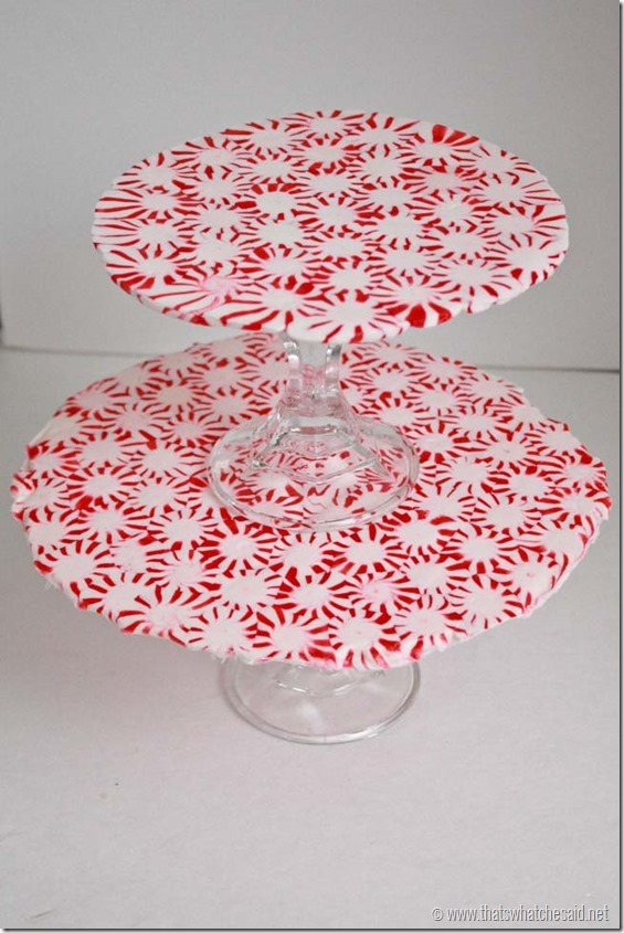 Make A Melted Peppermint Tiered Serving Tray 187 Dollar