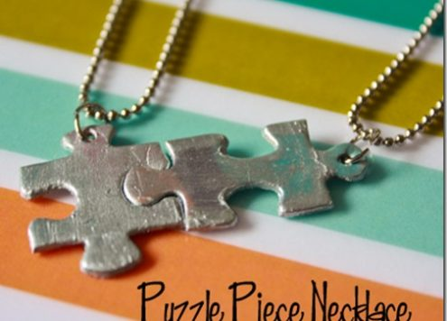 Make Puzzle Piece Necklaces