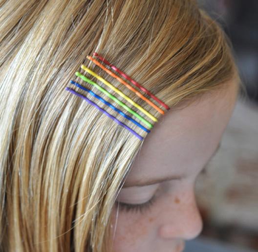 rainbow hair accesories
